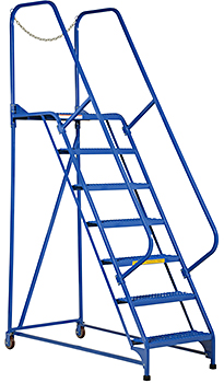 Vestil LAD-MM-7-G Rolling Maintenance Ladder