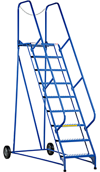 Vestil LAD-MM-9-G Rolling Maintenance Ladder