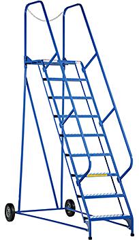 Vestil LAD-MM-9-G Rolling Maintenance Ladder