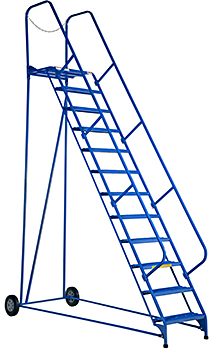 Vestil LAD-MM-12-G Rolling Maintenance Ladder