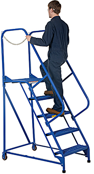 Vestil LAD-MM-5-P Rolling Maintenance Ladder
